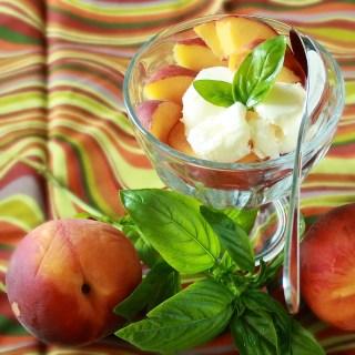Peach Basil Ice Cream | Teaspoonofspice.com