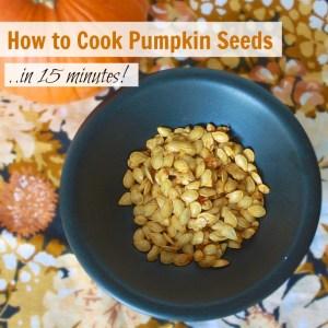 How to Cook Pumpkin Seeds in 15 minutes | Teaspoonofspice.com