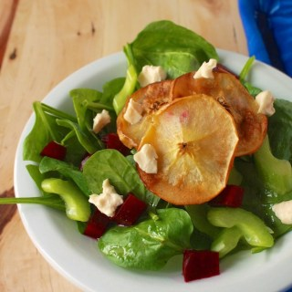 Spinach Salad with Roasted Apples: Holiday Salad Round Up