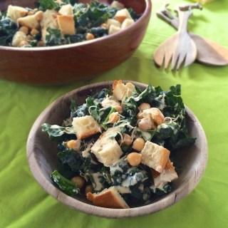 Kale Caesar Salad | Teaspoonofspice.com