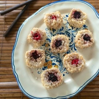 Fruit & Coconut Sushi Rolls   Teaspoonofspice.com