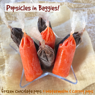 Frozen Chocolate and Fruit & Veggie Pops in Baggies | Teaspoonofspice.com
