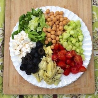 Chopped Greek Antipasto Salad | Teaspoonofspice.com