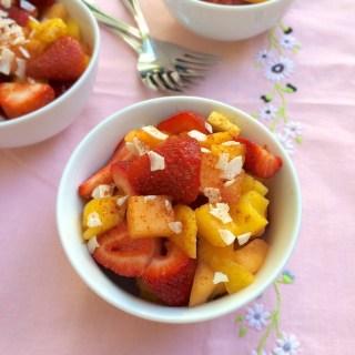 Strawberry Mango Pico de Gallo | Teaspoonofspice.com