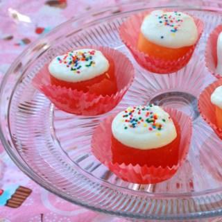 Cantaloupe and Watermelon Cupcakes