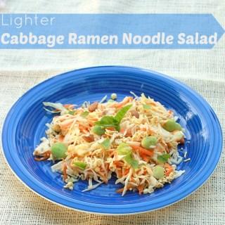 Lighter Cabbage Ramen Noodle Salad | TeaspoonOfSpice.com