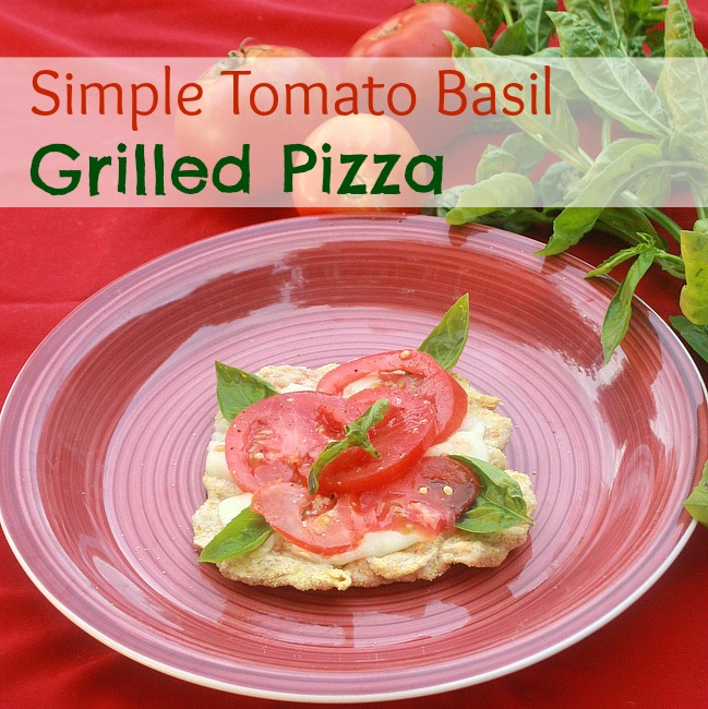 Simple Tomato Basil Grilled Pizza | TeaspoonOfSpice.com