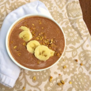 Chocolate Peanut Butter Smoothie Bowl | Teaspoonofspice.com