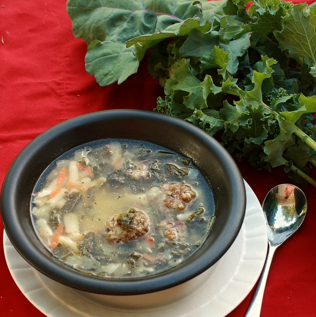 Homemade Italian Wedding Soup With Kale