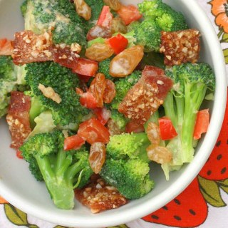 Praline Bacon Broccoli Salad with Raisins | The Recipe ReDux