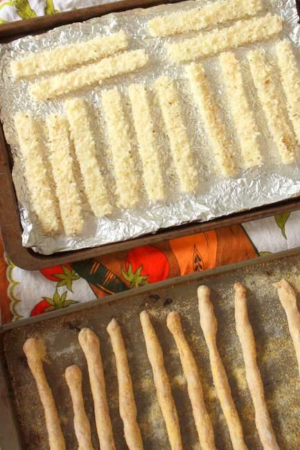 how to make homemade baked mozzarella sticks