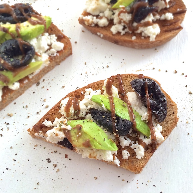 Dried Plums Ricotta Avocado Toast
