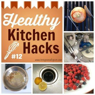 #HealthyKitchenHacks: Clean Your Grill with an Onion, 3 Easy Ways to Clean Your Garbage Disposal, DIY Fruit & Veggie Wash, Use Tea Bags to Clean Dishes, Clean That Pot On Your Stove. Teaspoonofspice.com @tspbasil