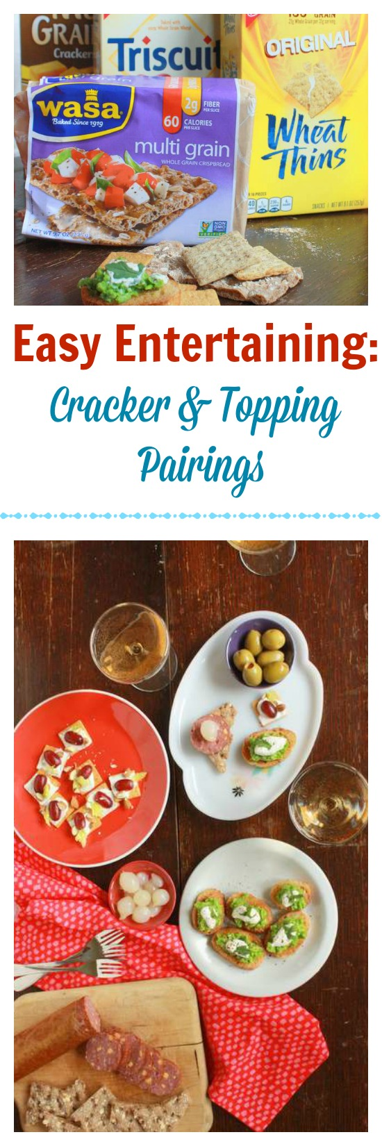 How to pair crackers with toppings | TeaspoonOfSpice.com
