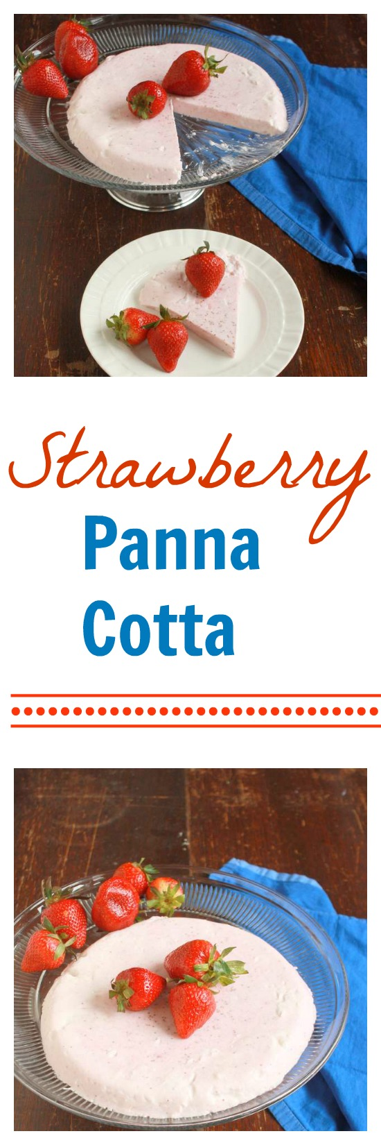 Dreamy, creamy (healthy!) Strawberry Panna Cotta | TeaspoonOfSpice.com