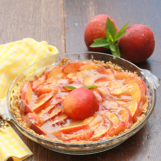 How to make fresh and easy peach pie