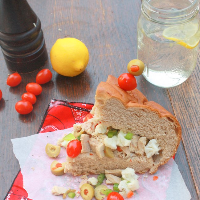 Tuna Muffaletta with Olive Salad
