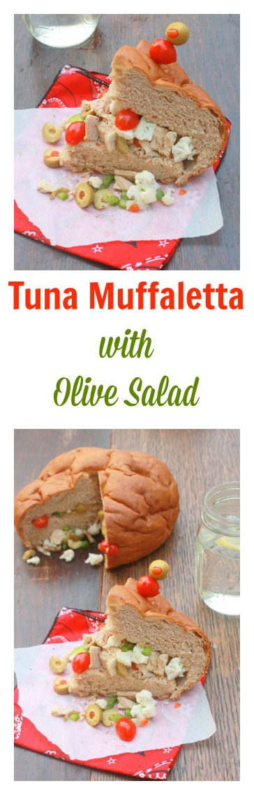 The ULTIMATE tuna sandwich: Tuna Maffaletta with Olive Salad