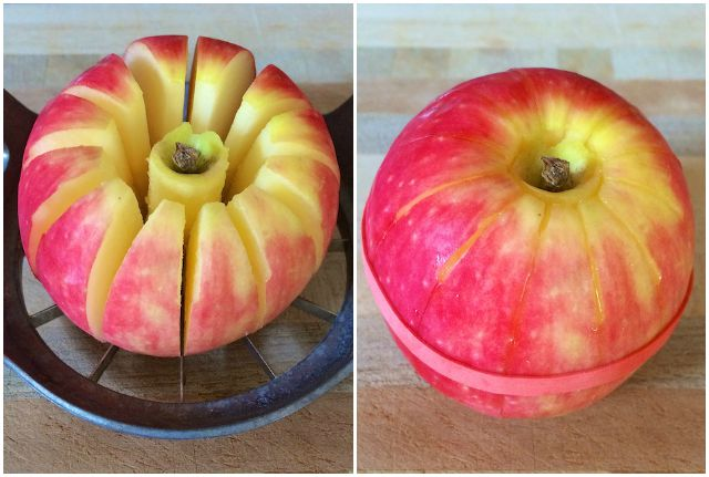 Healthy Kitchen Hacks: An easy trick on how to easily pack apple slices in lunch boxes @tspbasil
