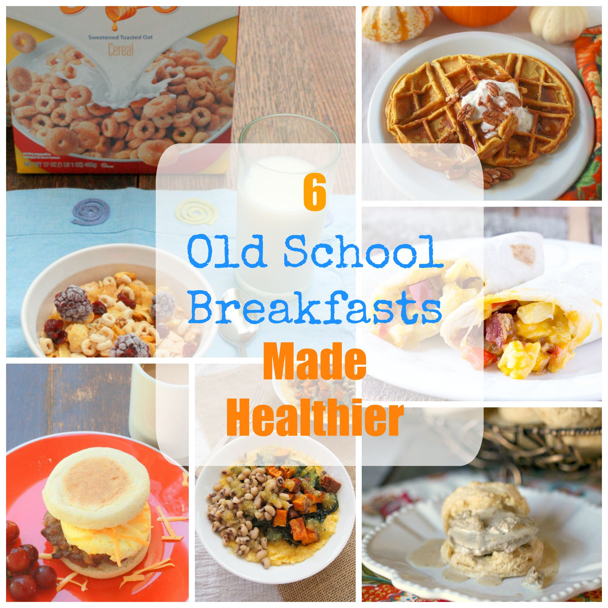 Comfort Food Breakfasts - How to make healthy biscuits and gravy * How to make healthy grits * Which cereal is healthy * How to make a Sausage Breakfast Sandwich * How to make Pumpkin Waffles