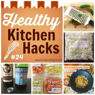 #HealthyKitchenHacks: Clever Way to Cut Hot Peppers, How to Freeze Onions, Make Healthy Freezer French Fries, How to Roast Pumpkin Seeds Quick, How to Keep Red Wine Fresh Longer @tspbasil
