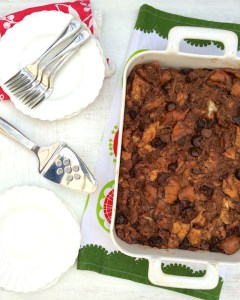 Chocolate Figgy Bread Pudding