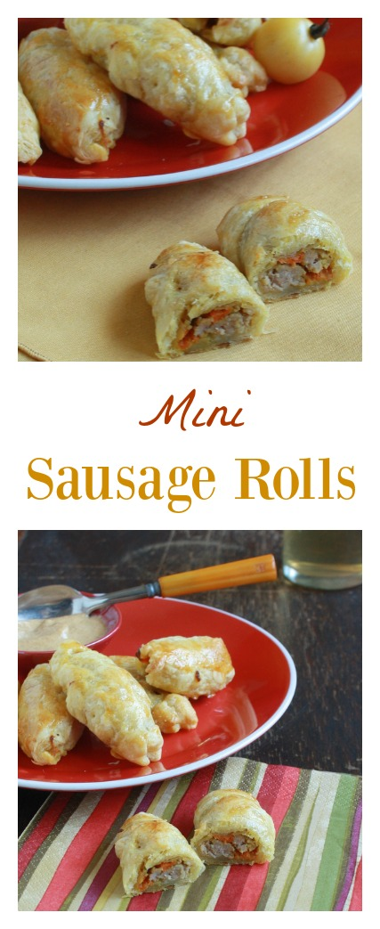 A fun-sized version of the British classic: Mini Sausage Rolls | @Tspcurry