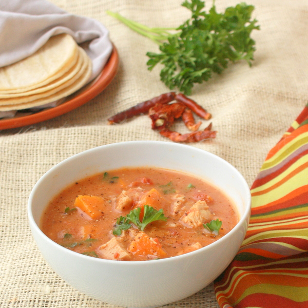 Bone Broth Chicken Soup - Chilies - Sweet Potatoes