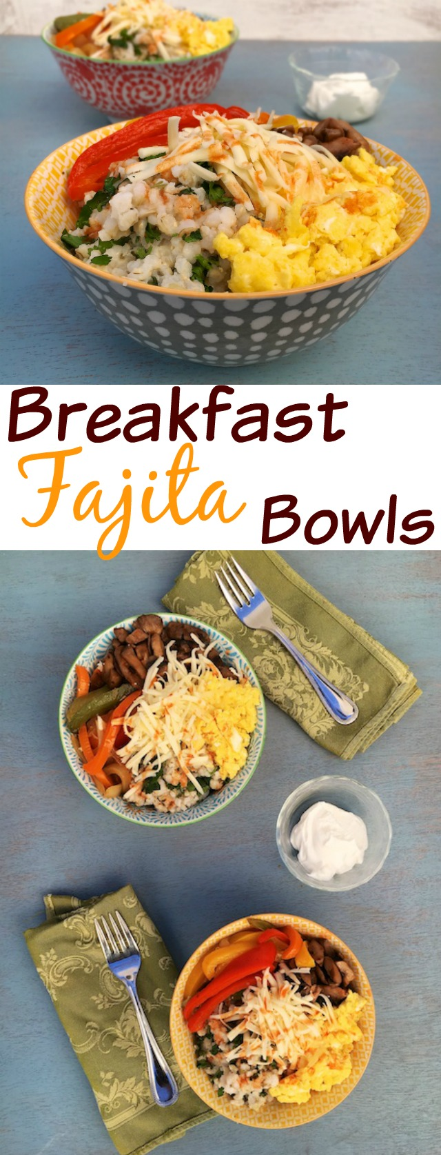 Wake up your morning routine with a protein-packed Breakfast Fajita Bowl featuring Real California milk products #sponsored @tspbasil