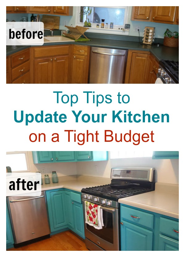Diy kitchen remodel on a budget for Update my kitchen on a budget