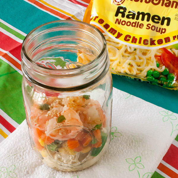 Ramen noodle soup in a jar | @TspCurry DIY noodle soup
