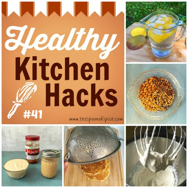 [Healthy Kitchen Hacks] How to Keep Pancakes Warm, Toast Nuts in Minutes, What to Do with a Mango Pit, Healthier Swap for Whipped Cream, 2-Ingredient Good Gut Health Dressing
