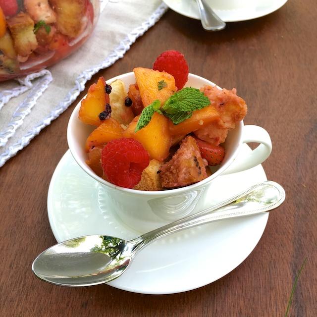 Honey Panzanella Fruit Salad