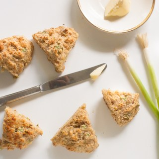 Spring Onion and Parmesan Whole Wheat Scones