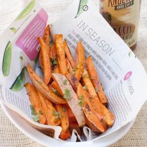 Apple Cider Marinated Sweet Potato Fries