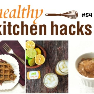 Healthy Kitchen Hacks: Potato Peel Waffles, Better For You Lemon Lime Soda, How to Make Date Paste - ideas at TeaspoonofSpice.com