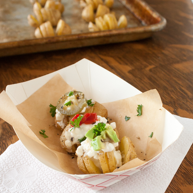 ad. How to Make Mini Potato Fans packed with protein | @TspCurry For more healthy recipes: TeaspoonOfSpice.com