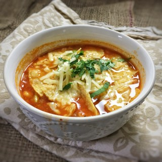 Enjoy turkey with a Tex-Mex twist with this easy to make tortilla soup recipe. Recipe at Teaspoonofspice.com