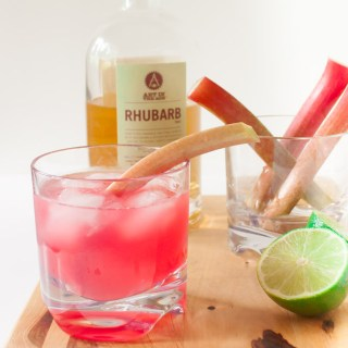 Ruby Rhubarb Ginger Cocktail | @TspCurry