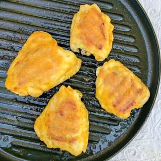 Sticky Chicken with Apricot Glaze | @TspCurry