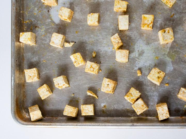 How to Make Crispy Baked Tofu | @TspCurry