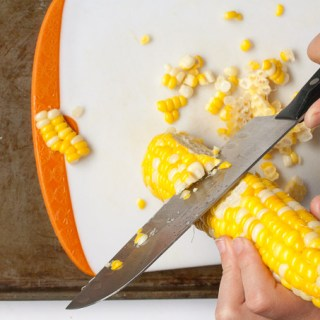 HOW TO CUT CORN OFF THE COB | @TspCurry