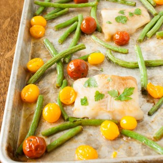 Butter Soy Sauce Sheet Pan Fish Dinner | @TspCurry