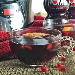 Hot Pomegranate Apple Cider Drink