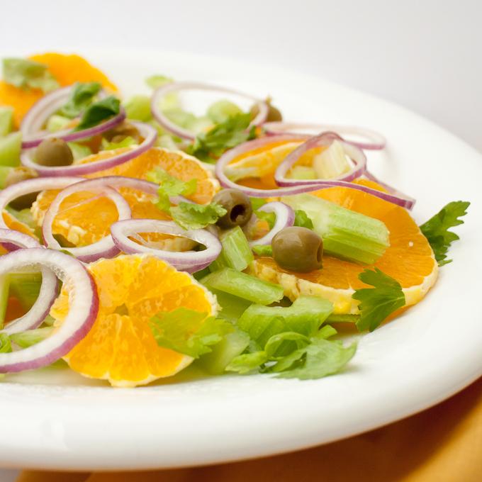 Easy Italian Celery Orange Salad   @TspCurry