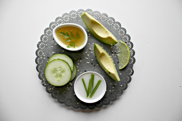 Alpro Coconut  avocado and cucumber gazpacho