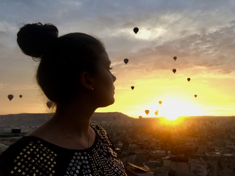 kappadokien, cappadokia, ballon i kappadokien