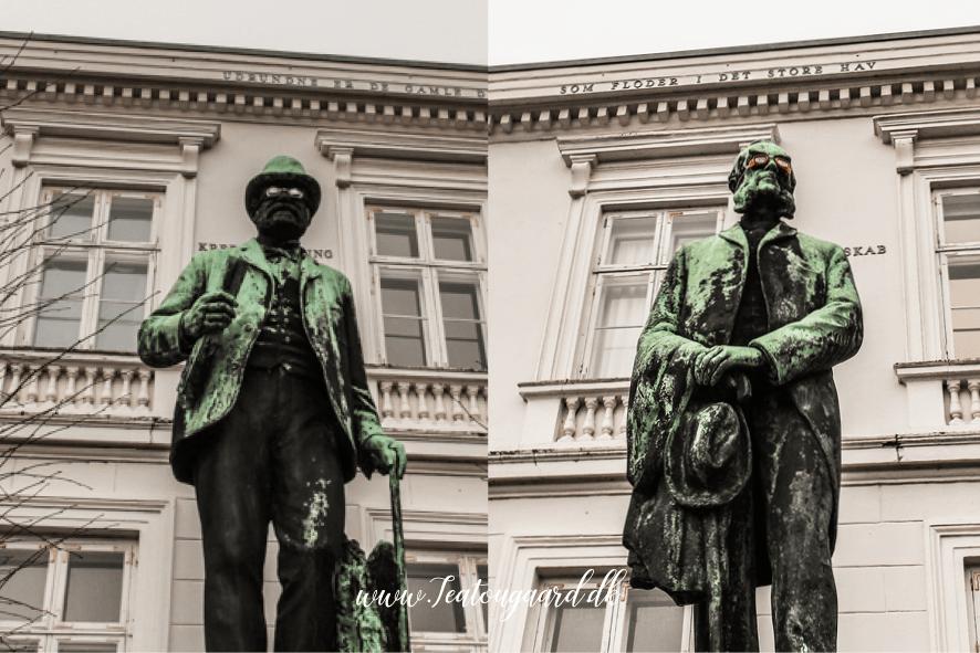 Statuer i Viborg, rejseblog Viborg, guide til Viborg, seværdigheder i Viborg, oplevelser i Viborg, statuer med dukkerbriller,