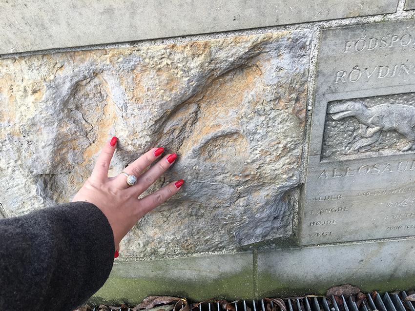 Dinosaurus fodspor århus, dinosaurus fodspor, gratis seværdigheder i Århus, Århus gratis seværdigheder, dansk rejseblog