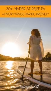 måder du kan rejse på, ferie former, hvordan kan man rejse, camping, charterferie, solo rejser, sejlerferie,